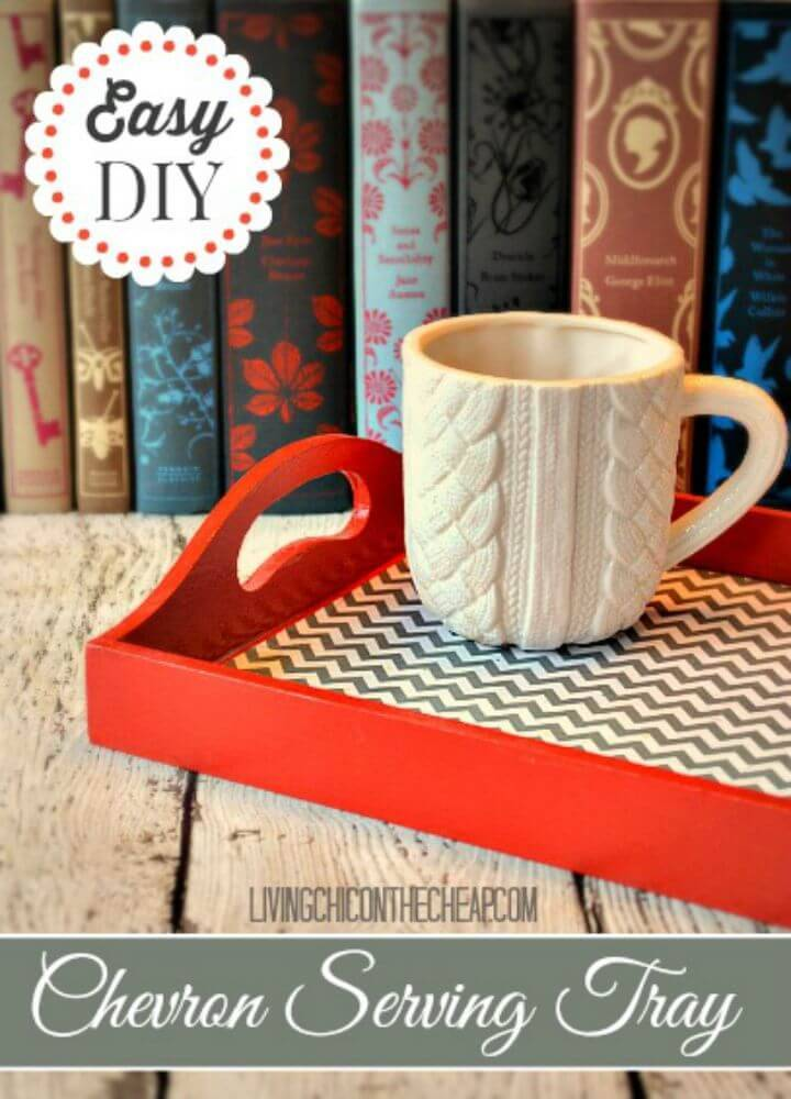 DIY Chevron Serving Tray - Home Decor Ideas