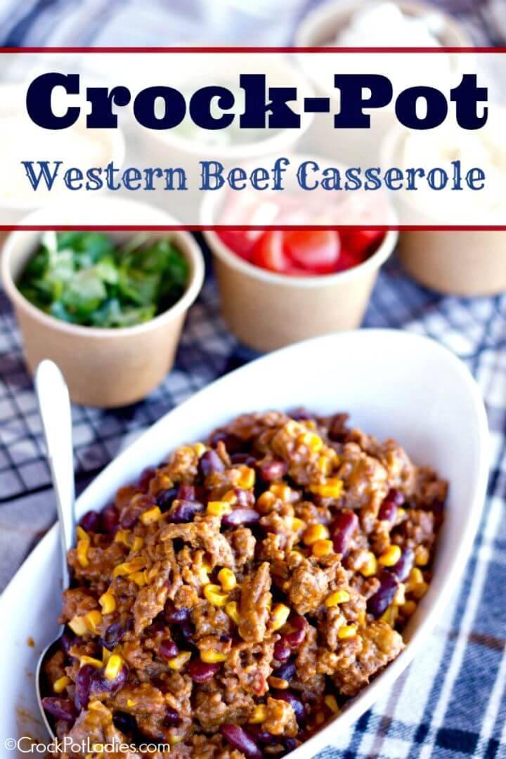Crock-pot Western Beef Casserole Recipe - DIY