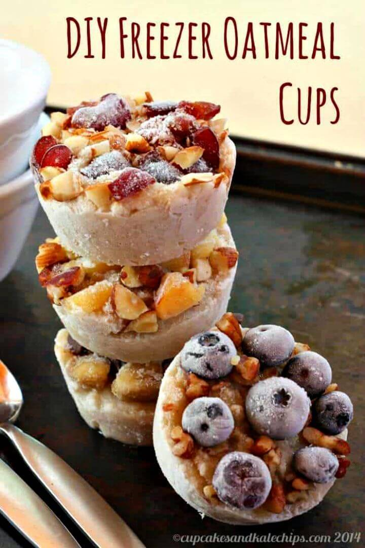 Freezer Oatmeal Cups Recipe - DIY