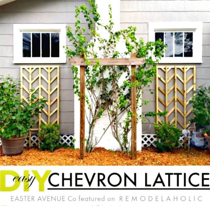 How To Build Chevron Lattice Trellis - DIY Home Decor Ideas