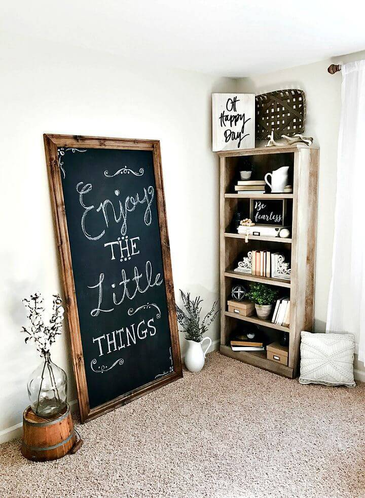 How To Build Oversized Chalkboard