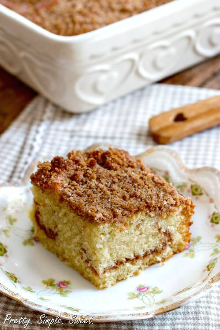 Make Cinnamon Streusel Coffee Cake Recipe