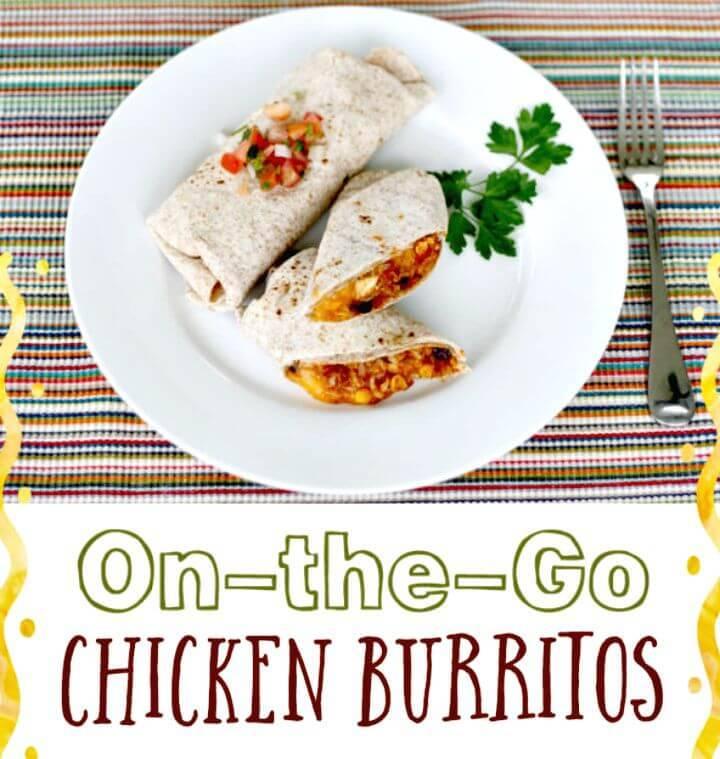 On the Go Chicken Burritos Recipe