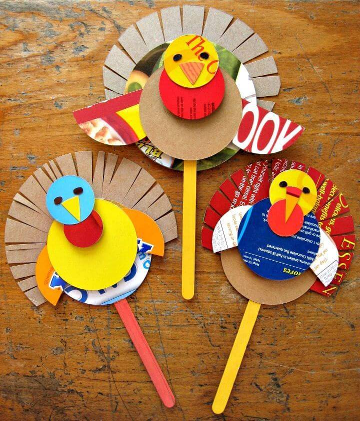 How To Make Cereal Box Turkeys Puppets - DIY