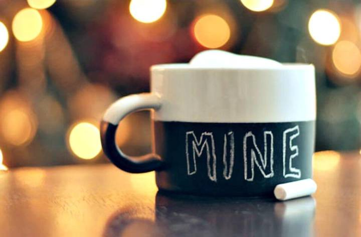 Cute DIY Chalkboard Paint Mug