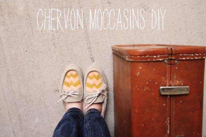 Awesome DIY Chevron Moccasins