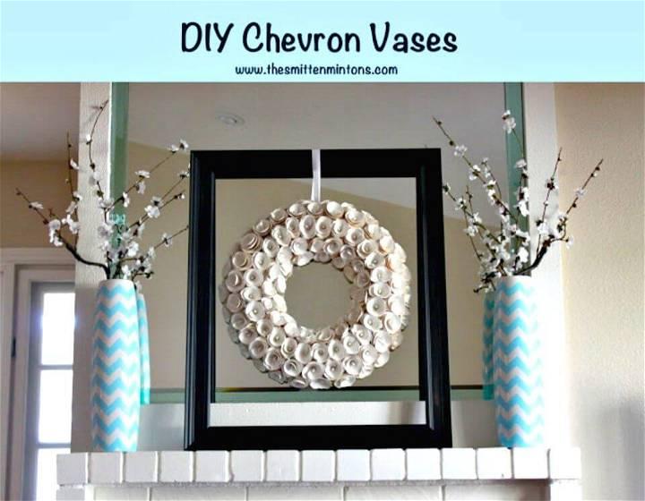 Awesome DIY Chevron Vases