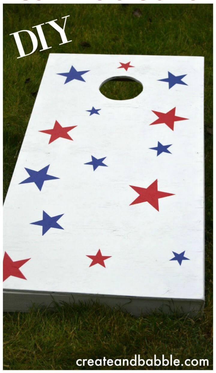 Easy DIY Cornhole Game Boards