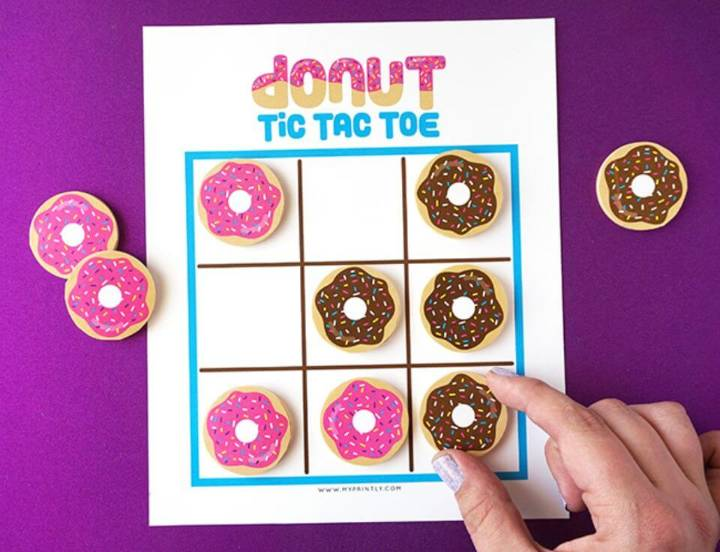 How To Make Donuts Tic Tac Toe Game - DIY