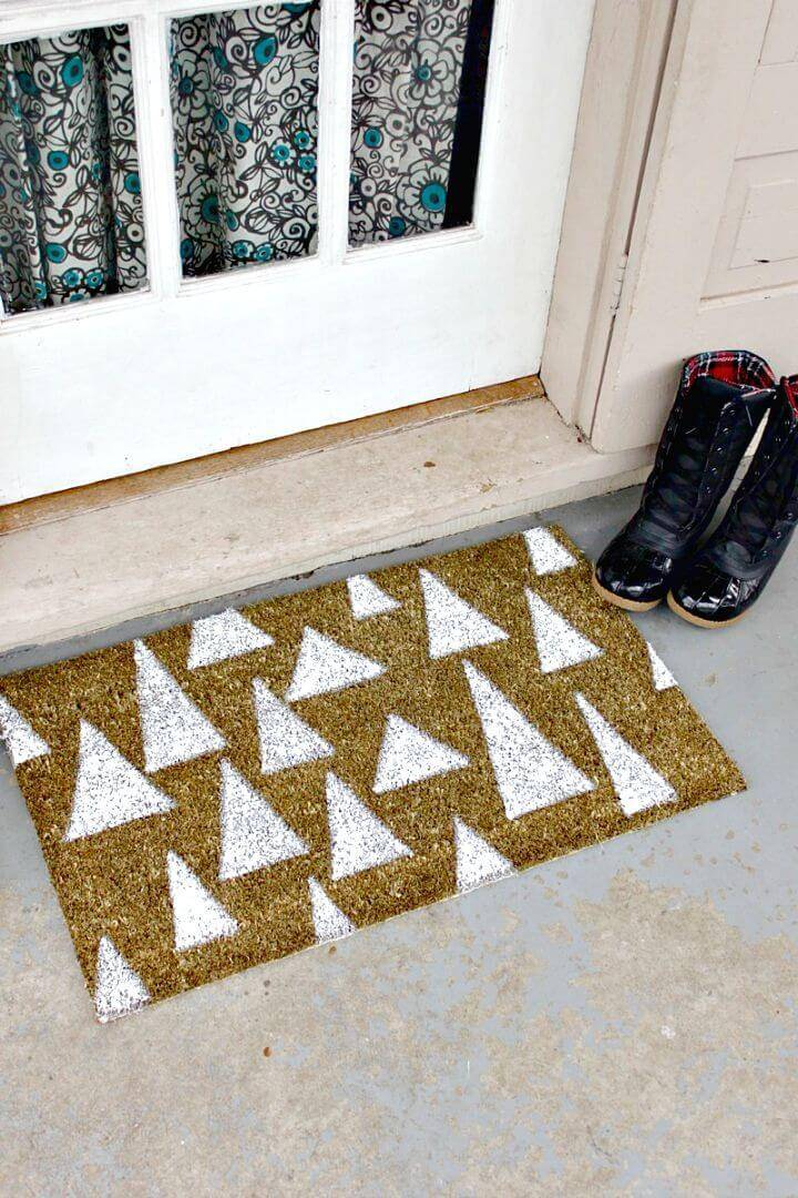 How To Make Mimicked Pine Trees Doormat