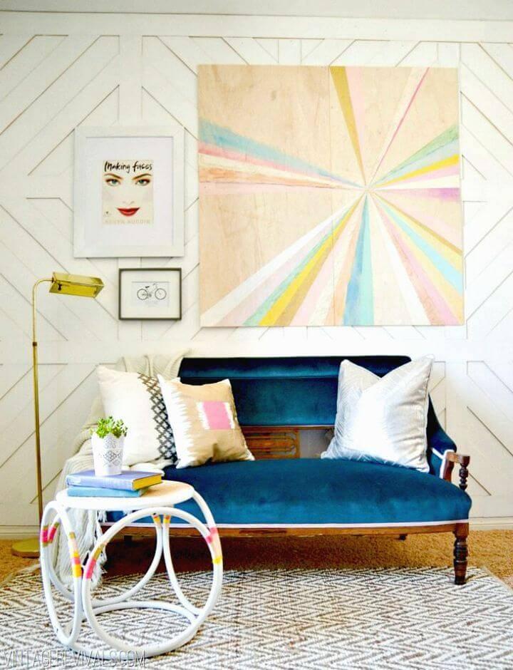 Make a Large Scale Plywood Pinwheel Art