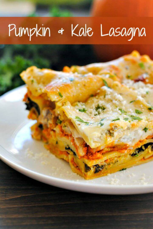 Prepare Pumpkin & Kale Lasagna Recipe