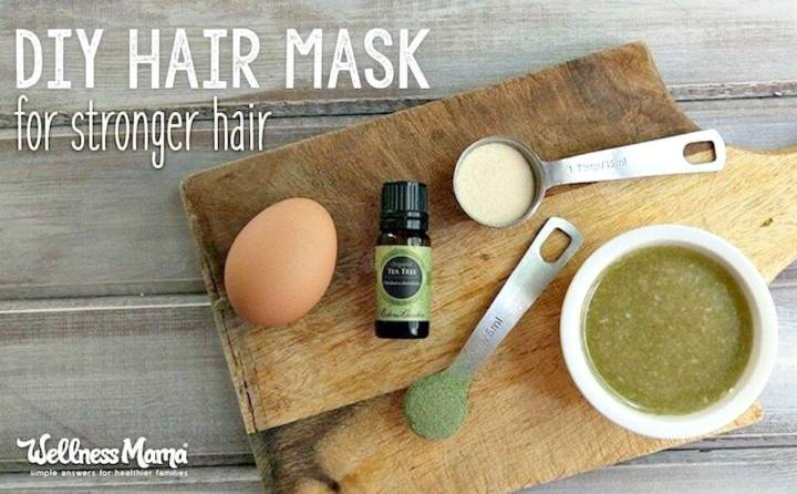 How To Make Strengthen Hair with Hair Mask Recipe - DIY