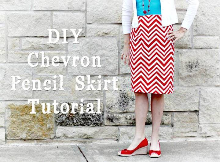 How To Sew Chevron Pencil Skirt - DIY