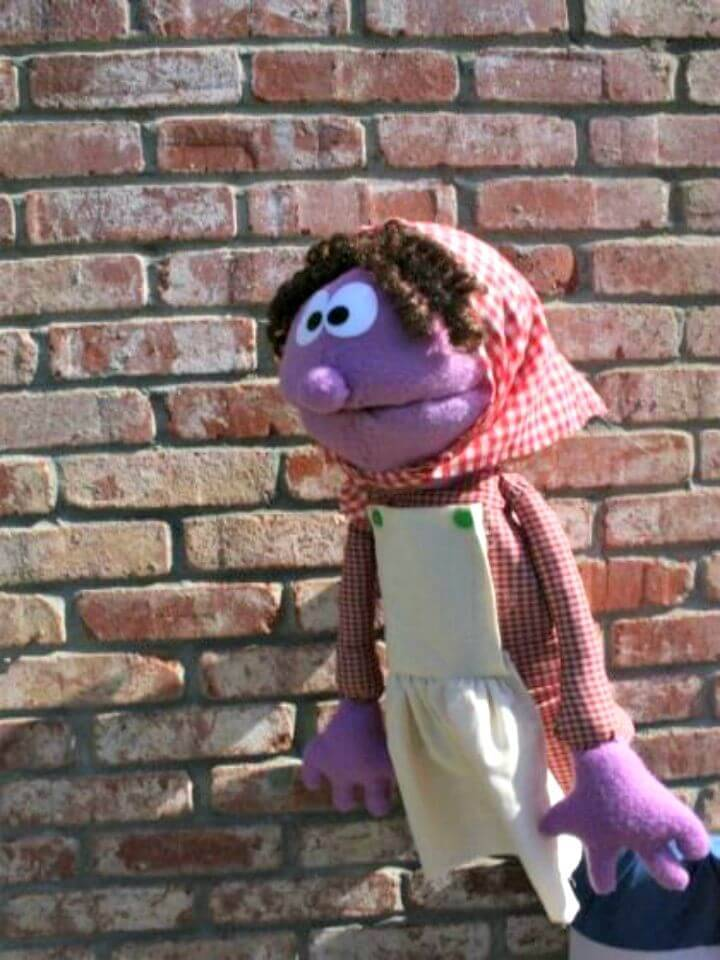 How To Sew Purple Pioneer Puppet - DIY