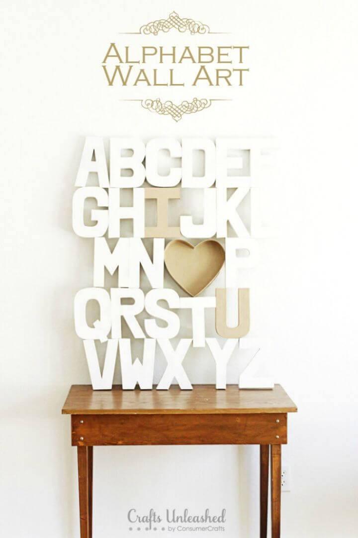 Inexpensive DIY Alphabet Wall Art