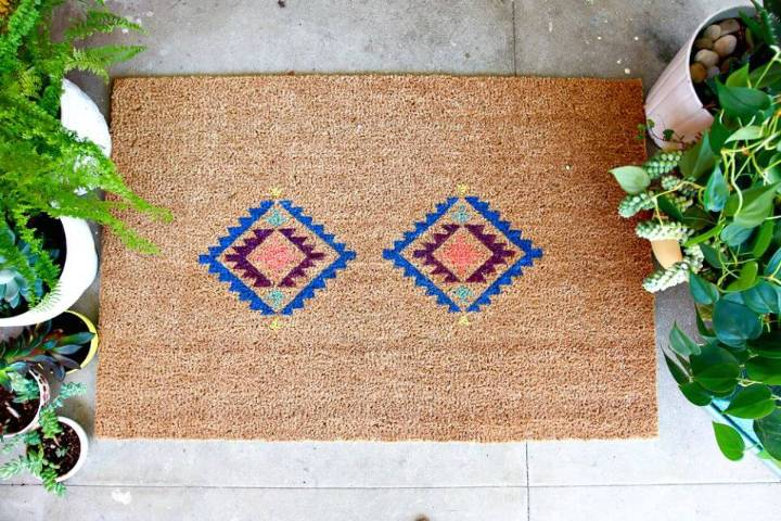 How to Make A Fun Doormat with Cricut