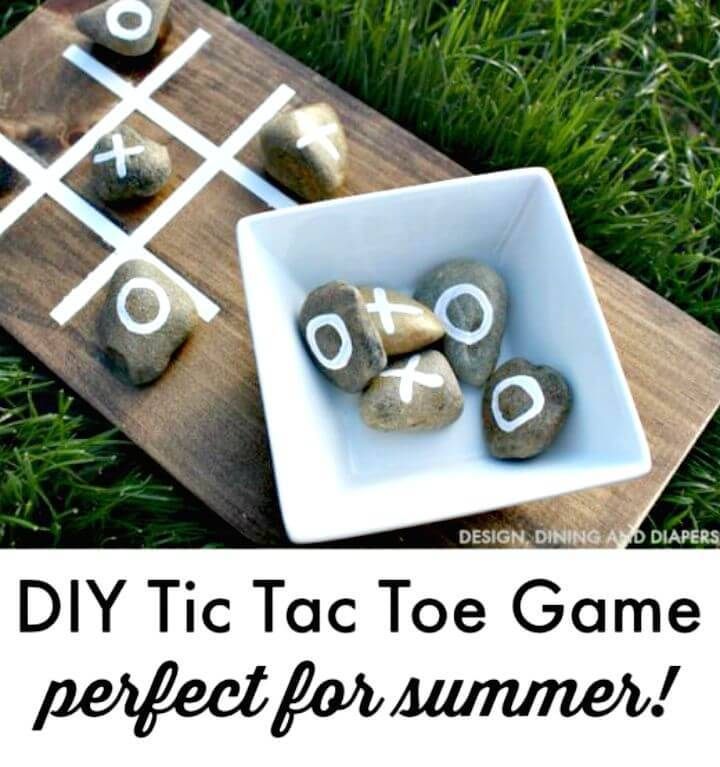 Make An Outdoor Tic Tac Toe Game