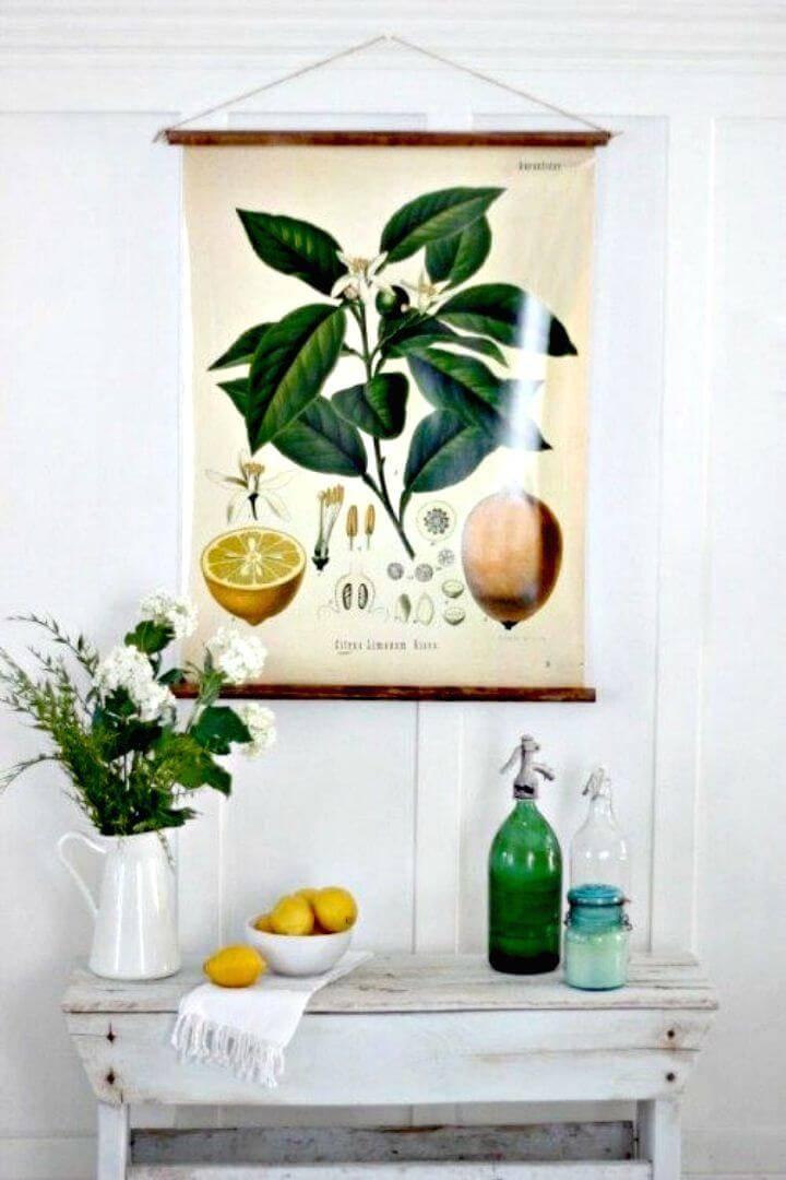 Make Botanical Hanging Print - DIY Wall Art Ideas