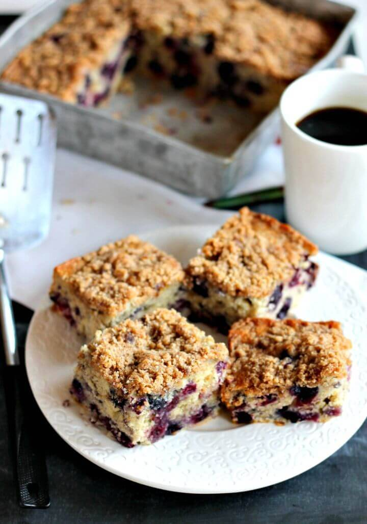 Easy Brown Butter Blueberry Coffee Cake Recipe