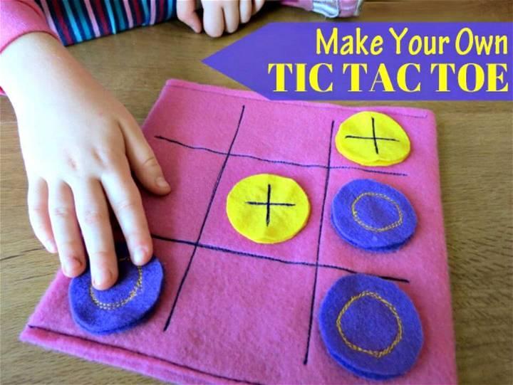 DIY Felt Tic Tac Toe Game