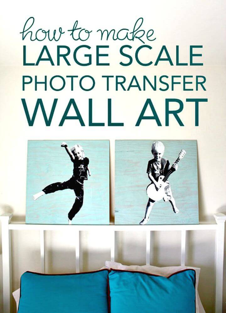 DIY Large Scale Photo Transfer Wall Art