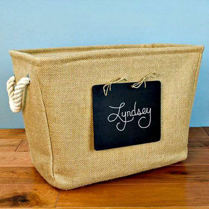 Make Personalized Chalkboard Burlap Tote