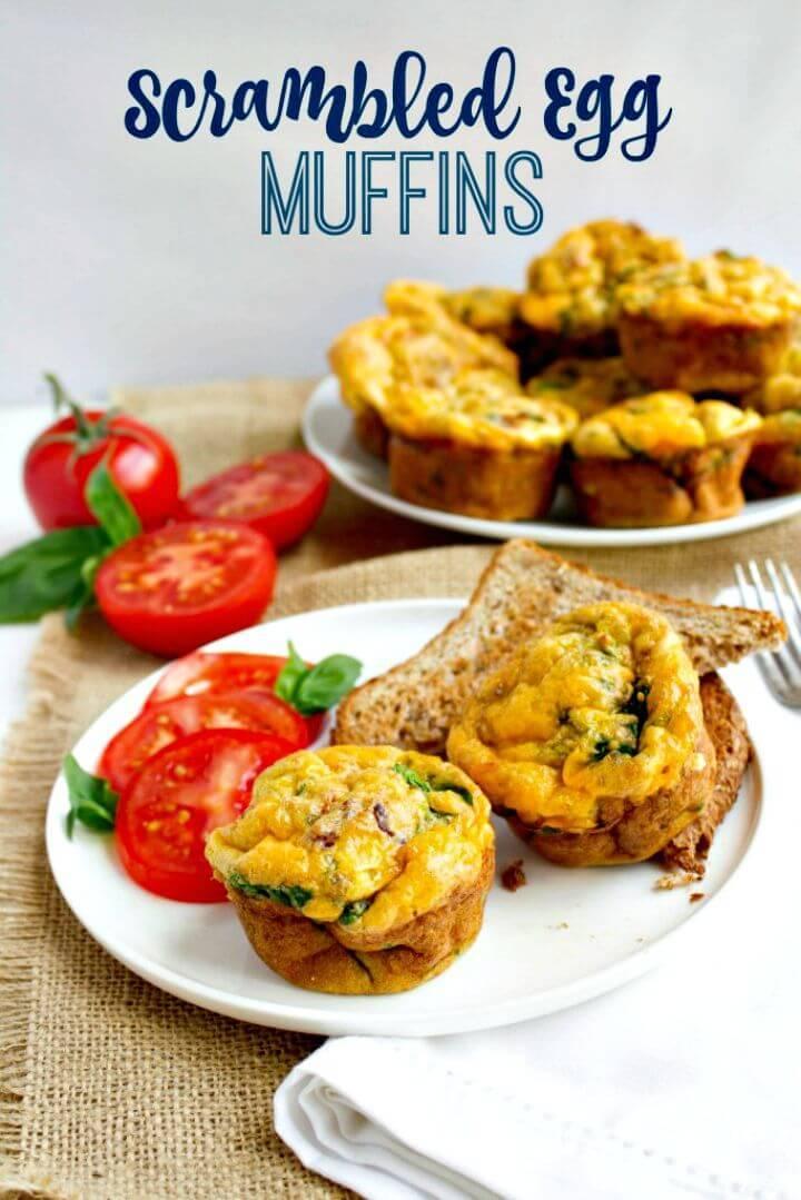 Easiest Scrambled Egg Muffins