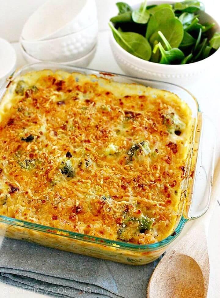 Skinny Baked Broccoli Macaroni Recipe - DIY