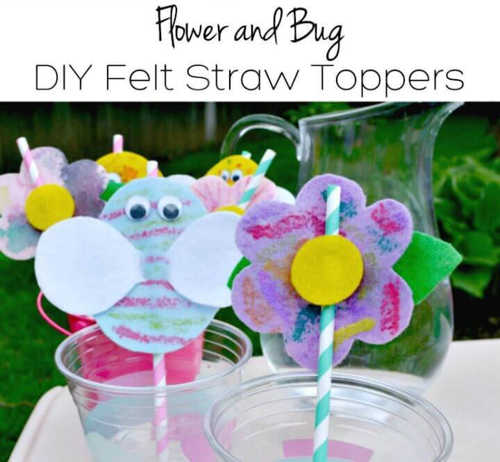 Make Your Own Felt Straw Topper Craft