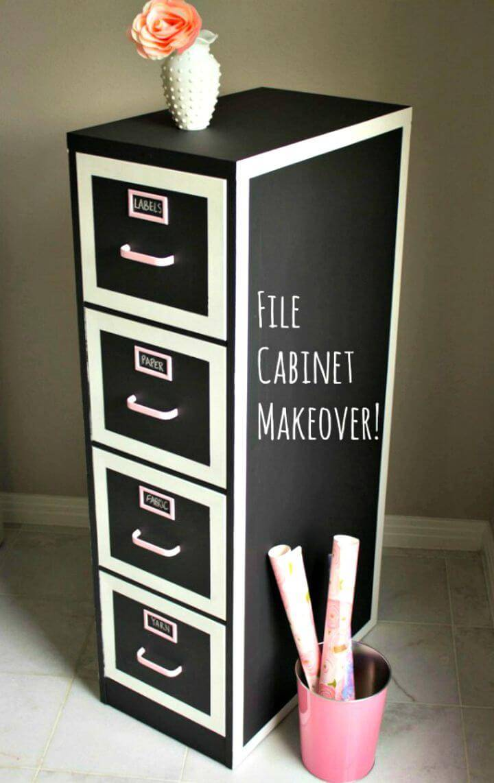 Chalkboard File Cabinet Makeover