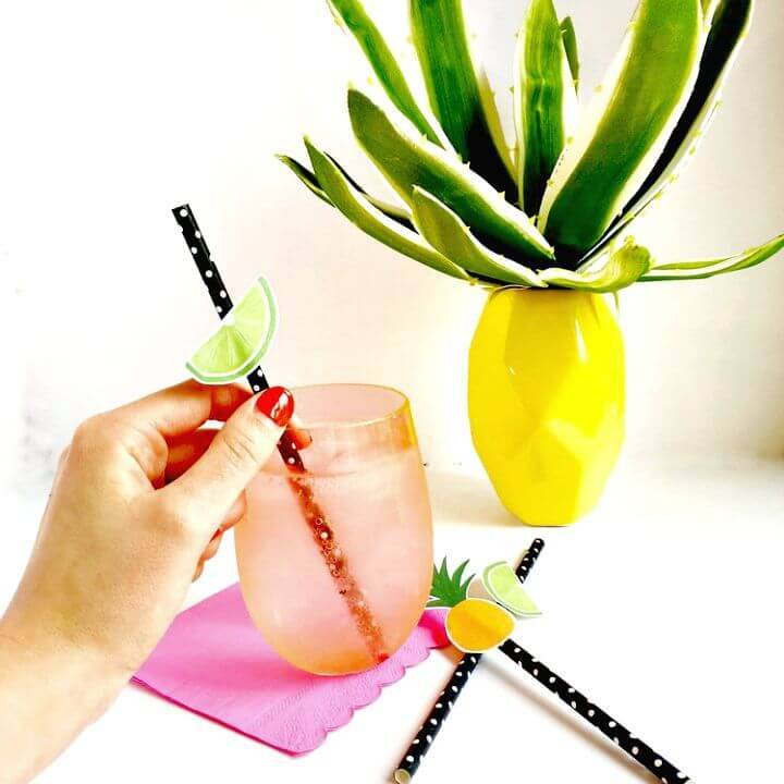 Easy DIY Fruity Straw Toppers