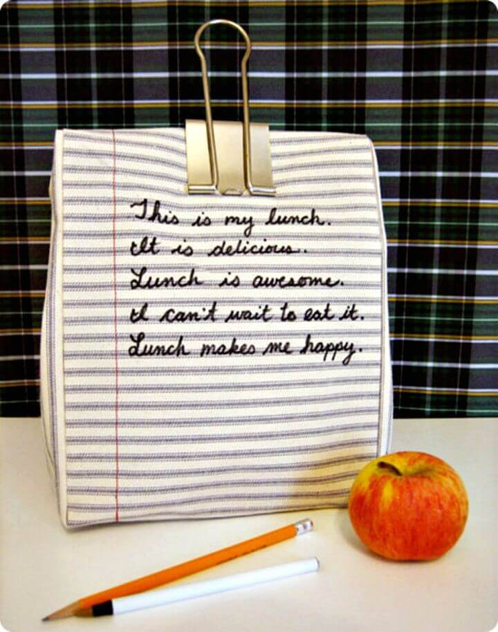 DIY Kate's Notebook Lunch Bag