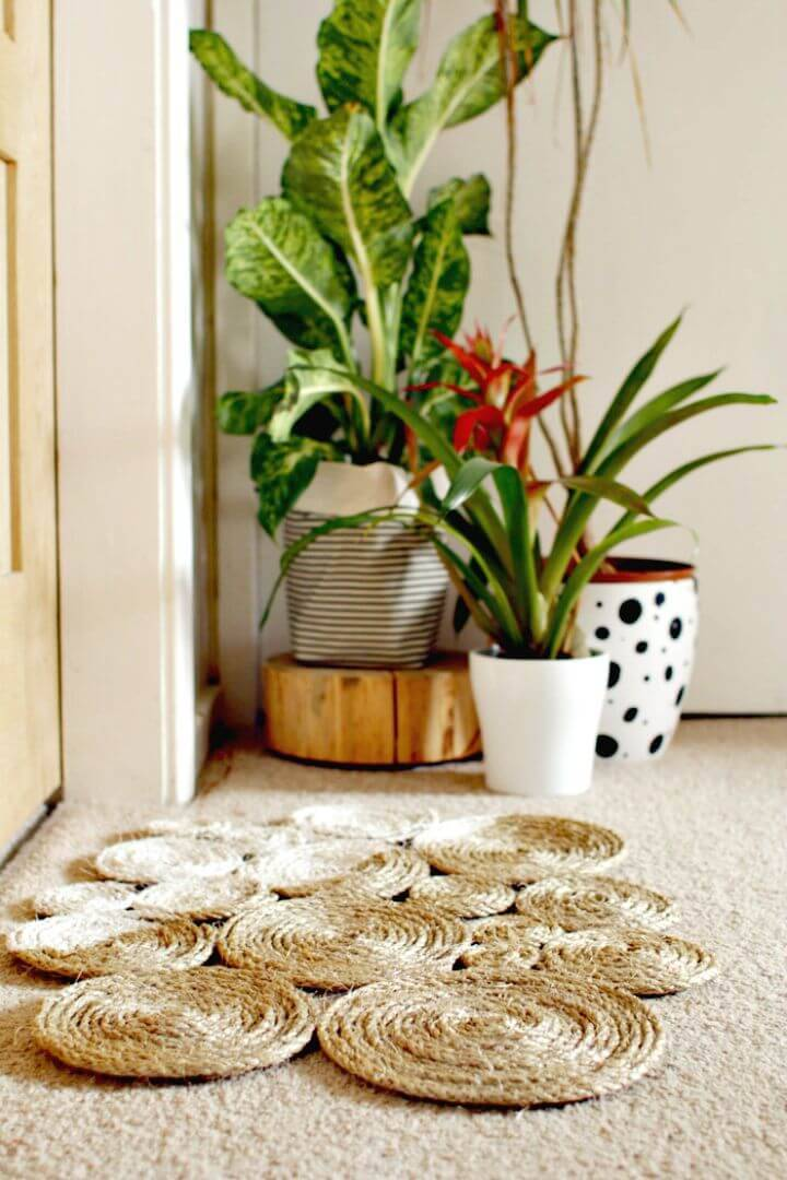 How to DIY Rope Coil Doormat