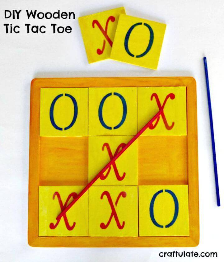 Make Your Own Wooden Tic Tac Toe - DIY Game Projects