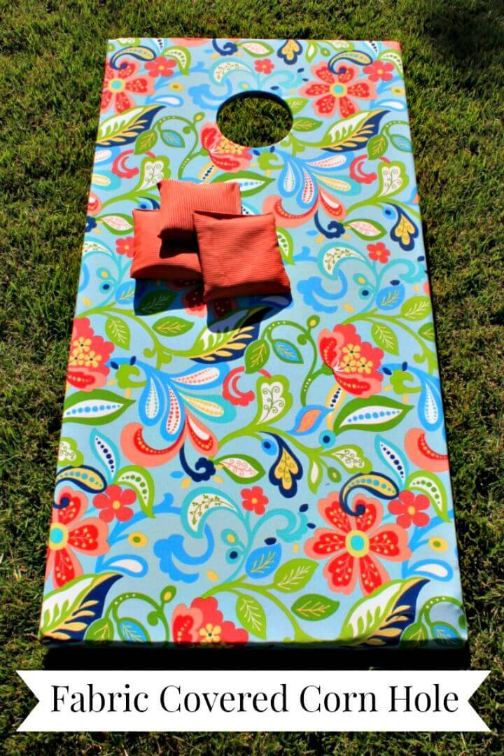 How to Make a Fabric Covered Corn Hole