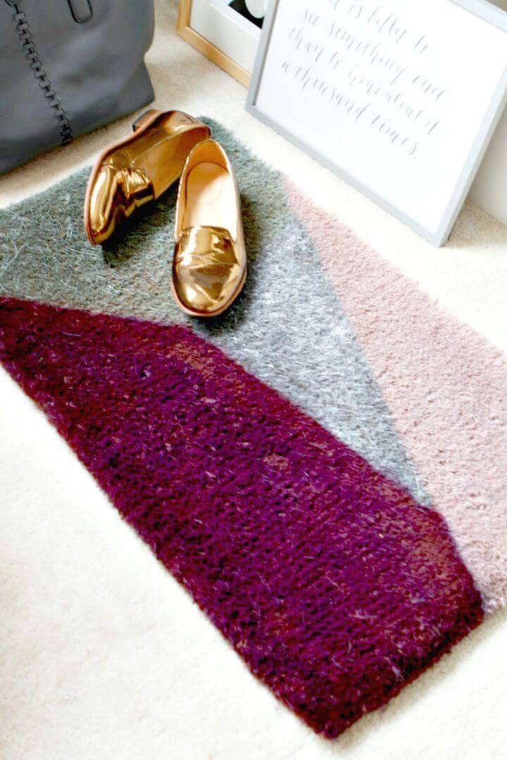 Modern DIY Floor Door Mat - Free Tutorial
