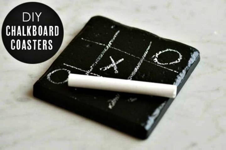 Simple DIY Chalkboard Coasters