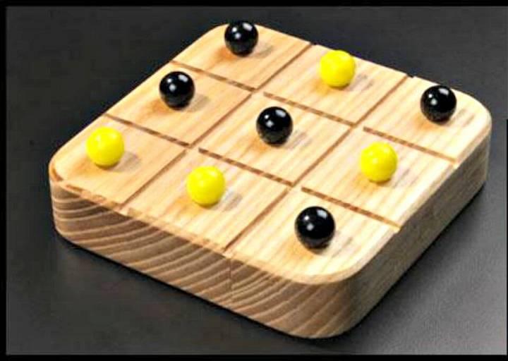 DIY Marble Tic-Tac-Toe Game