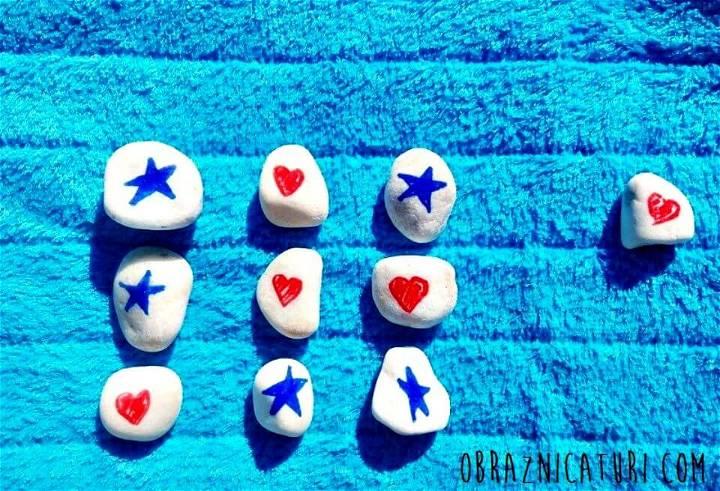 DIY Tic Tac Toe Set - Summer Game