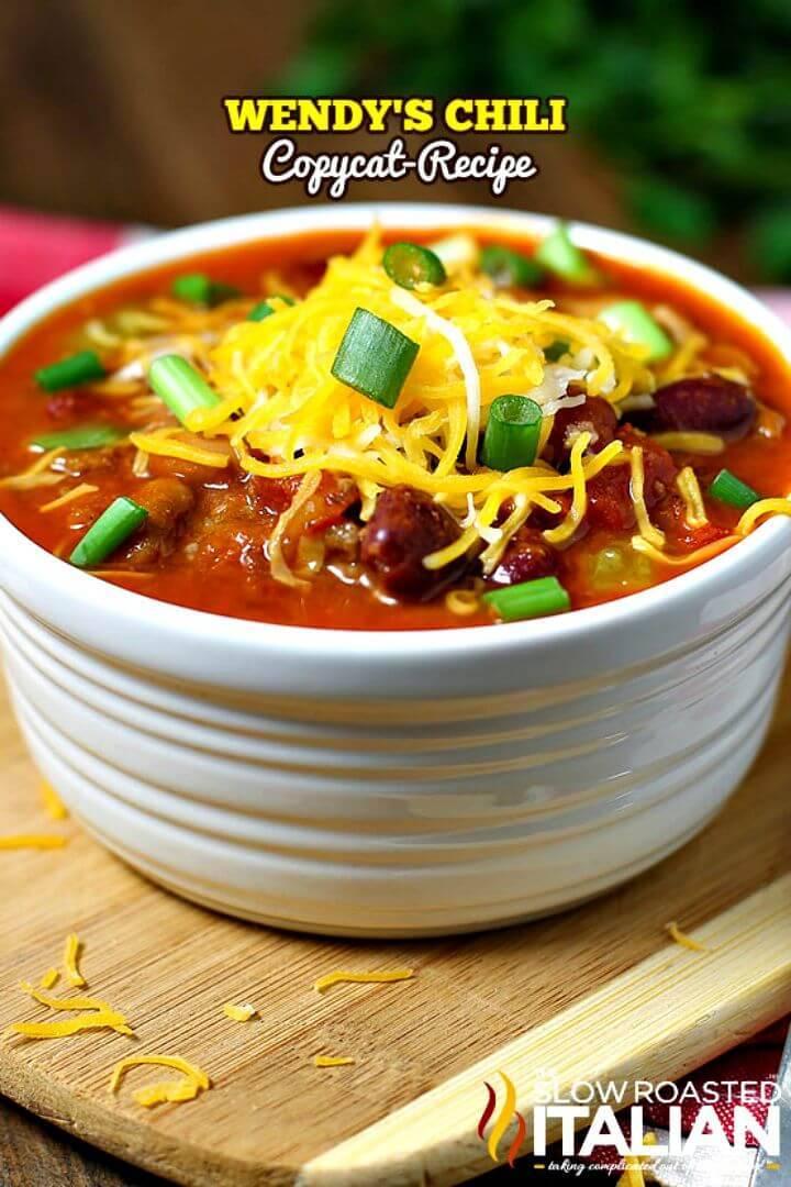 Easy Wendy's Chili Copycat Recipe - DIY
