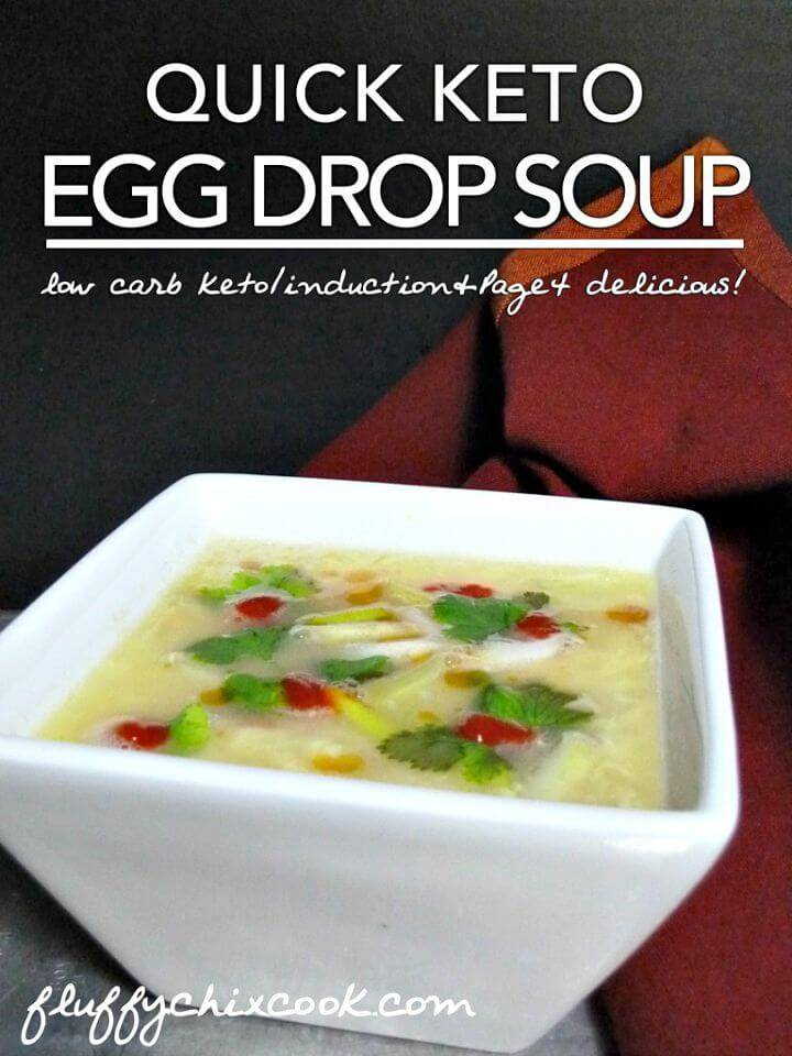 Quick Keto Egg Drop Soup Recipe