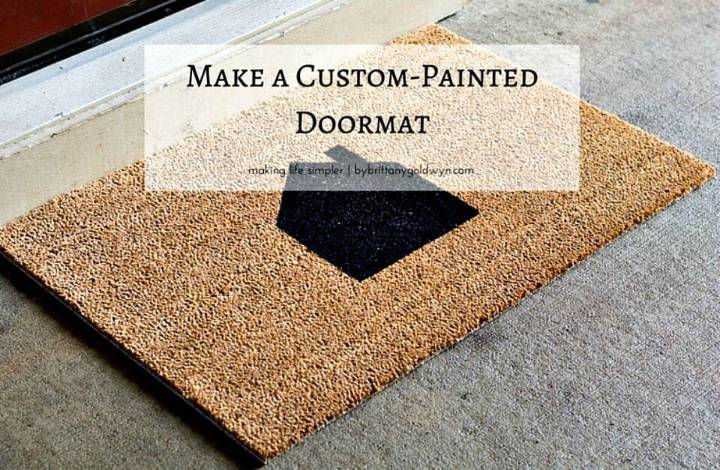 Quick DIY Custom-Painted Doormat