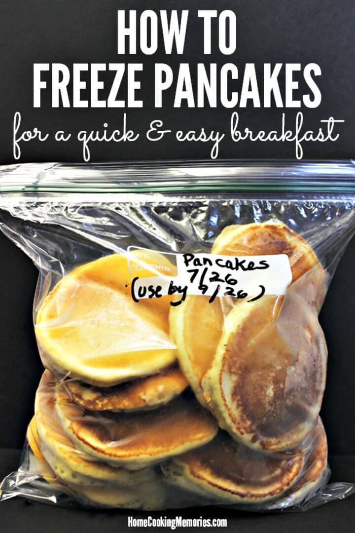 Quick and Easy Freeze Pancakes
