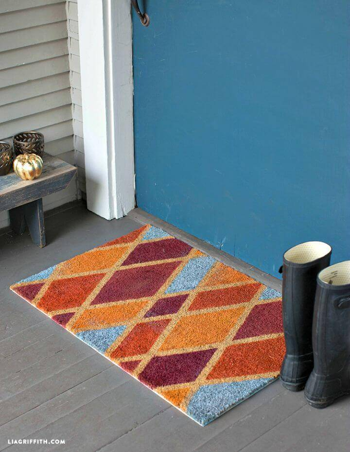 Beautiful DIY Colorful Fall Doormat