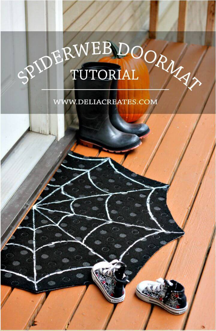 Graphic DIY Spiderweb Doormat