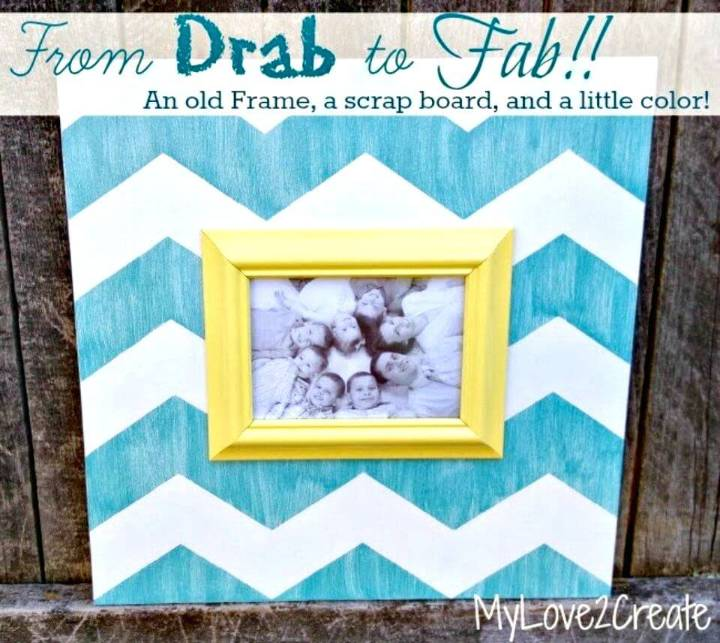 DIY Chevron Picture Frame - Home Decor Ideas