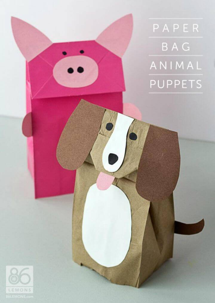 Unique DIY Paper Bag Animal Puppets