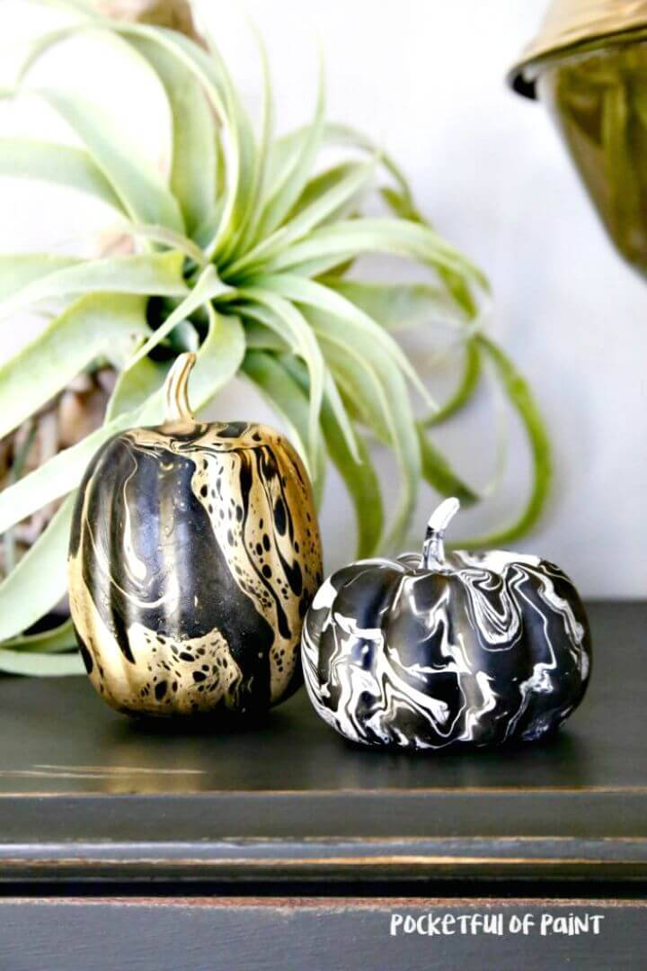 How to Make Marbelized Pumpkins - DIY