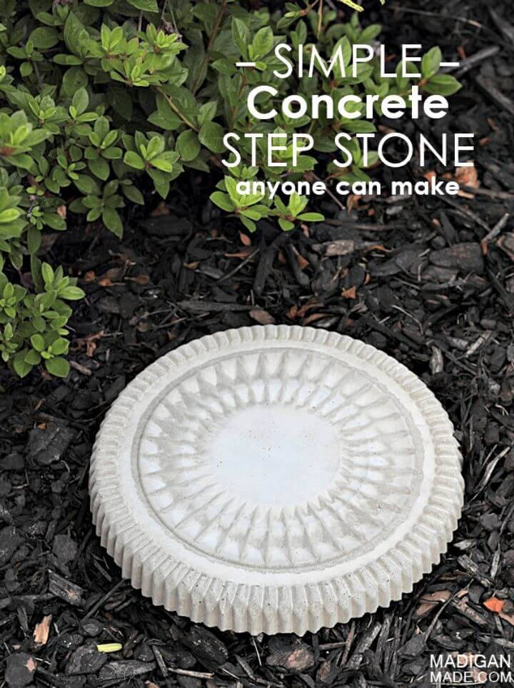DIY Concrete Garden Stepping Stone